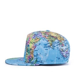 Summer Fashion Men And Women Hip Hop Flat Cap Hip Hop Globe Hat