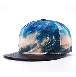 New Fashion Trend Hip Hop Hat Waves Baseball Hat Flat Brimmed Sun Hat