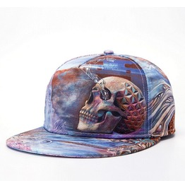 Male Hip Hop Flat Cap Baseball Cap Hip Hop Punk Colored Skull Cap