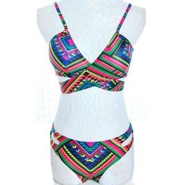 Colorful Geometric Bikini Swimsuit
