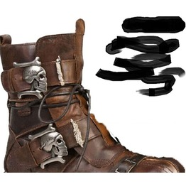 "Brown Distressed ""Mad Max"" Boots With Skulls"