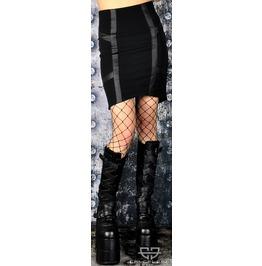 Lip Service High Waist Gothic Cyberpunk Cybergoth Stimulate Bondage Skirt