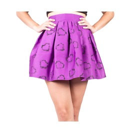 Purple With Hearts Skater Skirt, Lolita Skirts, High Waisted Skirt