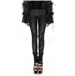 Punk Rave Gothic Lace Sheer Black Leggings K251