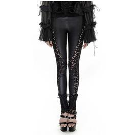 Punk Rave Gothic Lace Sheer Black Leggings K251