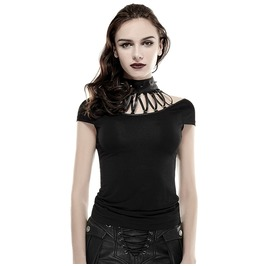 Punk Rave Streampunk Rivets High Collar Women's Slim Fitted Tops T430