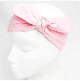 Baby Pink Polka Dot Headscarf