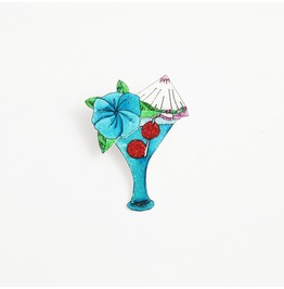 Blue Lagoon Cocktail Brooch