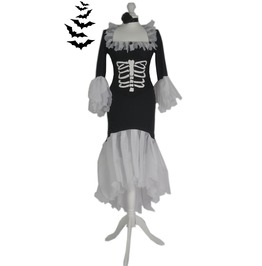 Creepy & Ghoulish Spooky Vampire Dress & Metal Boned Corset