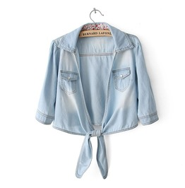 Long Sleeve Denim Shirt Women's