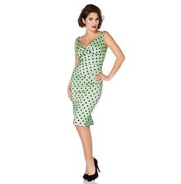 Voodoo Vixen Selena Polka Dot Taffeta Dress