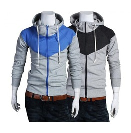 Men's Fashion Contrast Color Hoodies