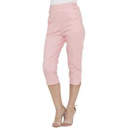 Voodoo Vixen Becky Summer Capri Pants (Pink + Green)