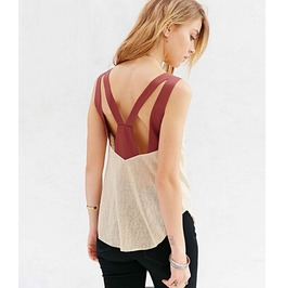 Camis Back Sexy Casual V Neck Transparent Vest Loose Cool Tank Women's