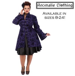 Purple Flocked Tattoo Coat