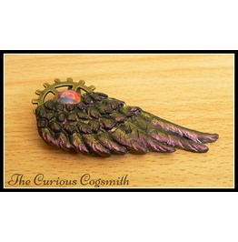 Red & Gold Winged Brooch