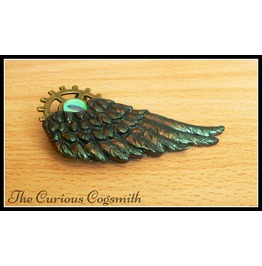 Green & Bronze Winged Brooch