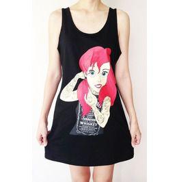 Ariel 8 Mermaid Cartoons Princess Mini Dress Tank Top Dress T Shirt Woman