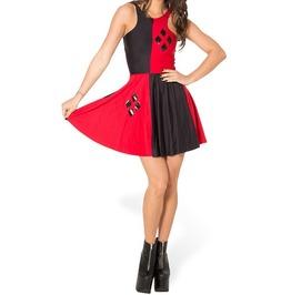 Digitally printed sleeveless harley quinn dress dresses 4