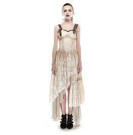 Steampunk Irregular Lace Maxi Slip Dress Q 291