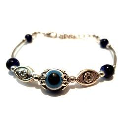 Cool Tibetian Silver Bracelet Spiritual Evil Eye Protection Bead Design