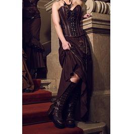 Ladies Black Or Brown Steampunk Langdon Goth Platform Heel Boots $9 To Ship