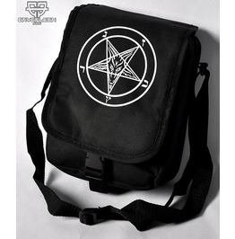 Cryoflesh Pentagram Satanic 666 Mark Of Beast Cyber Goth Punk Shoulder Bag