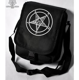 Cryoflesh Pentagram Satanic 666 Mark Of Beast Cyber Goth Punk Shoulder Bag