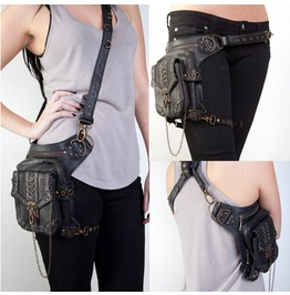 Retro Style Gothic Cladding Punk Steam Pockets Leg Bag Tide Mini Packet