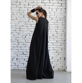 Black Maxi Dress/Loose Long Dress/Plus Size Kaftan/Long Black Dress