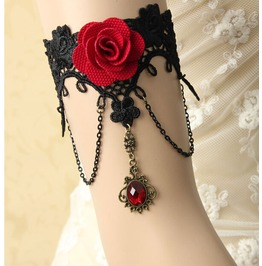 Gothic Rose Lace Jewelry Bracelets Armband Cover Scars Arm Chain