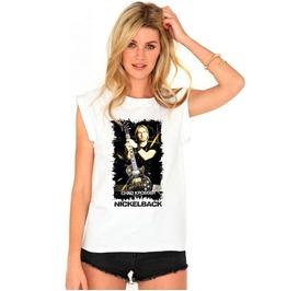 Nickelback Shirt T Chad Kroeger Women T Metal Band T Shirt Logo Cotton