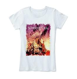 Supernatural Shirt Winchester Castiel Wing T Women Tv Series Tshirt Cotton