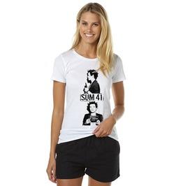 Sum 41 Shirt Deryck Whibley Punk Band Alternative Rock Women Tshirt Cotton