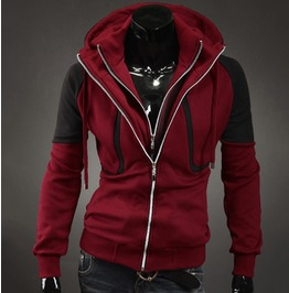 Men's Double Zip Up Hoodie