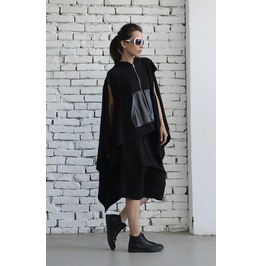 Black Loose Sport Set/Zipper Black Maxi Top/Oversize Harem Pants/Shorts