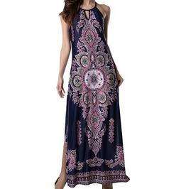 Full Length Beach Dress With Floral Print