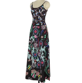 Full Length Summer Dress With Ethnic Print