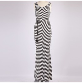 Full Length Summer Dress With Zebra Print
