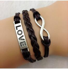 Fashion Handmade Jewelry Hand Woven Simple Infinity Love Bracelet