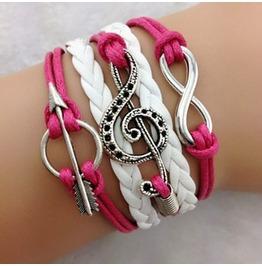 Fashion Handmade Jewelry Hand Woven Infinity Musical Anchor Bracelet