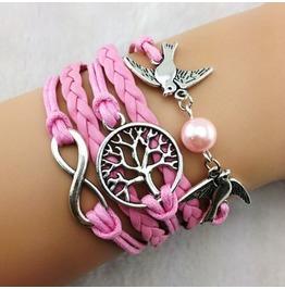 Fashion Handmade Jewelry Hand Woven Infinity Tree Infinity Bracelet