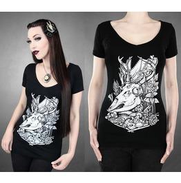 2016 Fashion Punk Rock Print Women Summer Tops T Shirts