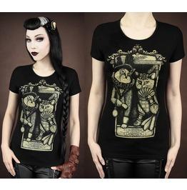 2016 Fashion Punk Rock Cat Print Women Summer Tops T Shirts