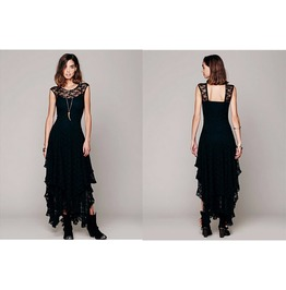 Sheer Lace Gothic Style Dress