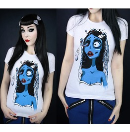 2016 New Fashion Corpse Bride Women Summer Tops T Shirts