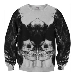 Black Skull Girl Net Sweater From Mr. Gugu & Miss Go
