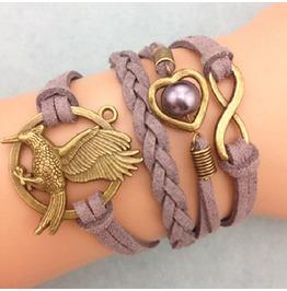 Fashion Handmade Jewelry Hand Woven Infinity Heart Eagle Bracelet
