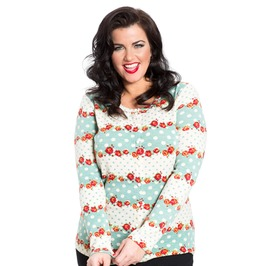 Voodoo Vixen Charity Gorgeous Floral Patterned Soft Knit Cardigan