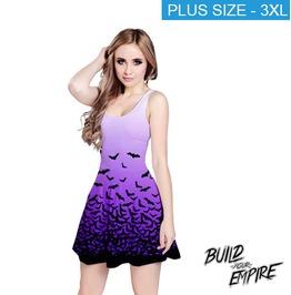 [ Plus Size 3 X L ] Fade To Bats Sleeveless Dress